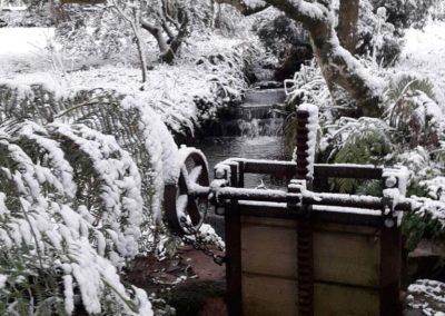Sluice gates in snow